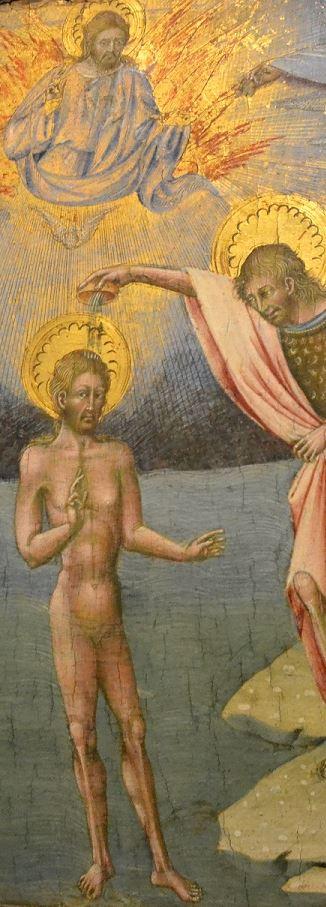 Giovanni di Paolo (1395-1482) : Le baptême du Christ, 1454
